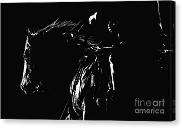 Night Riders Canvas Print by Lincoln Rogers