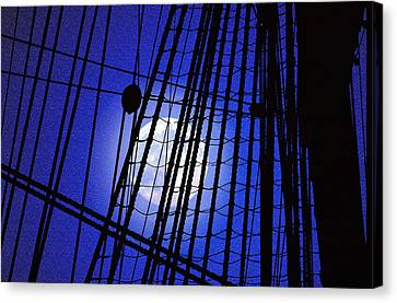 Canvas Print featuring the photograph Night Rigging by Mike Flynn