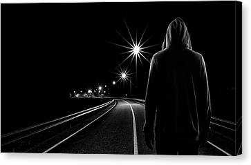 Night Road Canvas Print