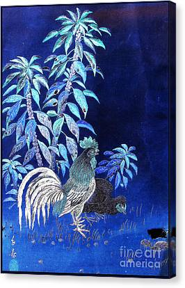 Night Rooster Canvas Print by JCYoung MacroXscape