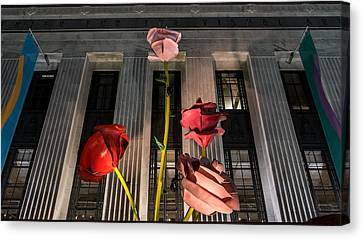 Frist Center Canvas Print - Night Roses by Glenn DiPaola