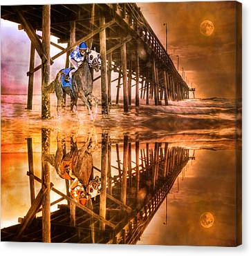 Night Run IIi Patriotic  Canvas Print by Betsy Knapp