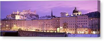 Night Salzburg Austria Canvas Print by Panoramic Images