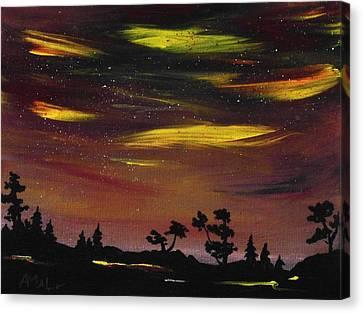 Night Scene Canvas Print by Anastasiya Malakhova
