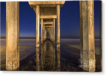 La Jolla Art Canvas Print - Night Scripps by Marco Crupi
