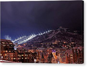 Night Ski Area Canvas Print