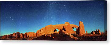 Night Sky Over Arches National Park Canvas Print by Walter Pacholka, Astropics