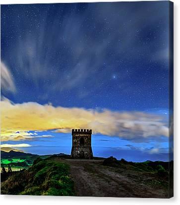 Night Sky Over Castelo Branco Canvas Print by Babak Tafreshi
