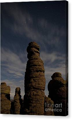 Canvas Print featuring the photograph Night Sky Over Chiricahua by Keith Kapple
