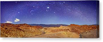 Night Sky Over Death Valley Canvas Print by Walter Pacholka, Astropics