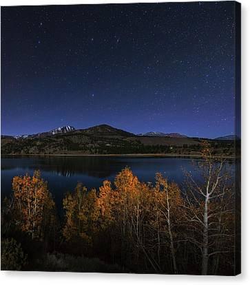 Night Sky Over June Lake Canvas Print