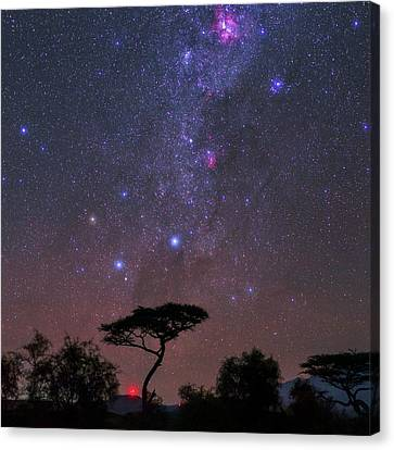 Carina Nebula Canvas Print - Night Sky Over Kenya by Babak Tafreshi