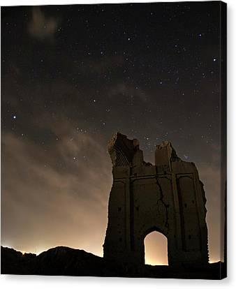 Night Sky Over Sar Yazd Canvas Print by Babak Tafreshi