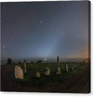 Night Sky Over Stone Circle Canvas Print by Babak Tafreshi
