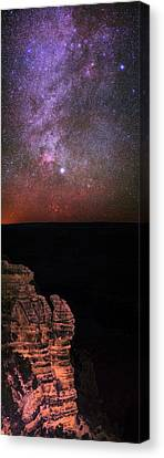 Nebula Canvas Print - Night Sky Over The Grand Canyon by Babak Tafreshi
