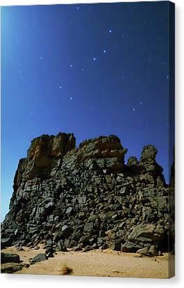 Night Sky Over The Sahara Desert Canvas Print by Babak Tafreshi