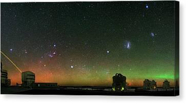 Night Sky Over Vlt Telescopes Canvas Print by Babak Tafreshi