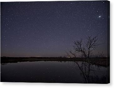 Night Sky Reflection Canvas Print