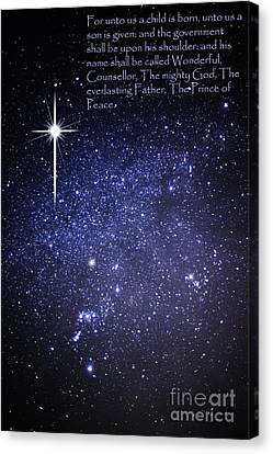 Night Sky Scripture Canvas Print by Thomas R Fletcher