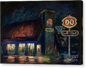 Night Spot Canvas Print by Bruce Schrader