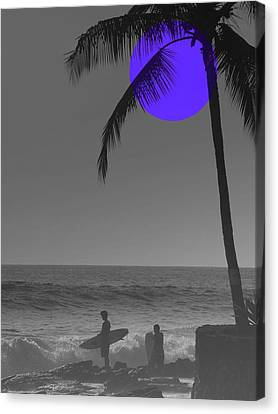 Night Surf Canvas Print