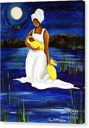 Night Tide Canvas Print by Diane Britton Dunham