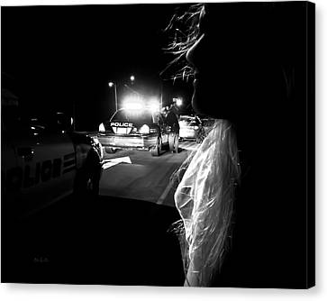 Night Traffic Stop Three Canvas Print by Bob Orsillo