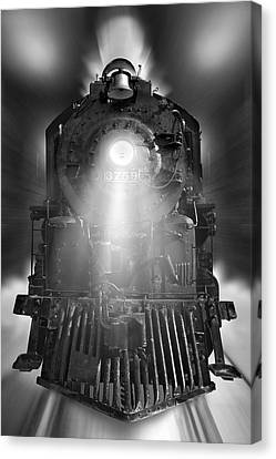 Night Train On The Move Canvas Print