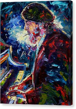 Night Tripper Canvas Print by Debra Hurd