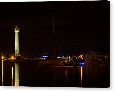 Night View Of Put-in-bay Canvas Print