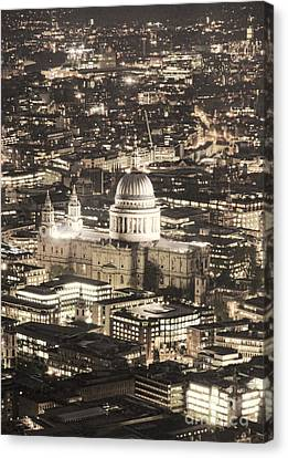 Night View Over St Pauls Canvas Print by Jasna Buncic