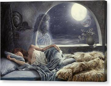 Night Voyage Canvas Print by Lucie Bilodeau