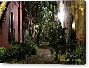 Night Walk In Charleston Canvas Print by John Rizzuto