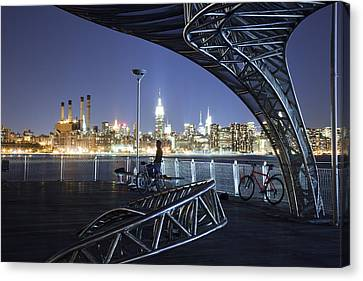 Williamsburg Canvas Print - Night Watchman by Mike Lang