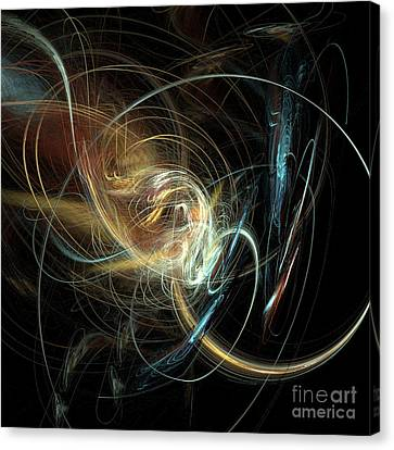 Night Whimsy Canvas Print by Sara  Raber