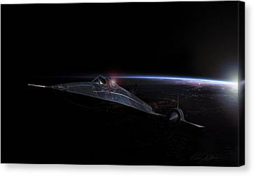 Night Whisper Sr-71 Canvas Print by Peter Chilelli