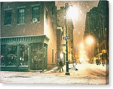 Night - Winter - New York City Canvas Print by Vivienne Gucwa