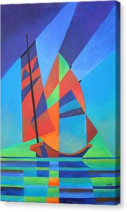 Nightboat Canvas Print by Tracey Harrington-Simpson