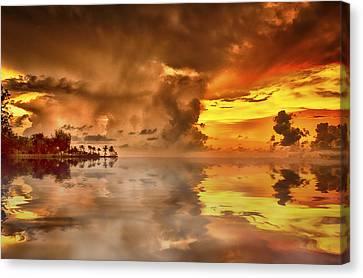 Top-end Canvas Print - Nightcliff Gold by Douglas Barnard