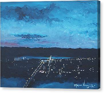 Nightfall At Garvin Canvas Print by Monica Veraguth