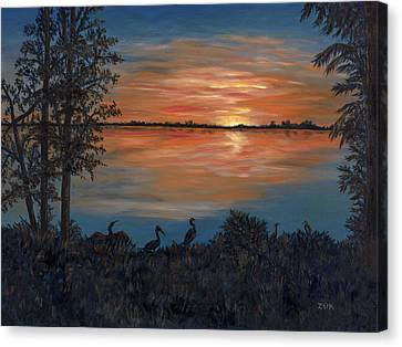 Nightfall At Loxahatchee Canvas Print