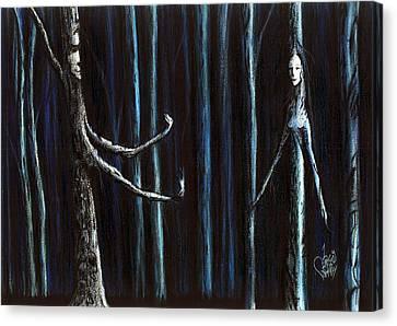 Nightfall Secret Canvas Print by Danielle R T Haney