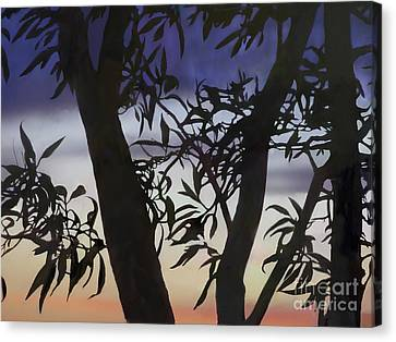 Canvas Print featuring the digital art Nightfall by Ursula Freer