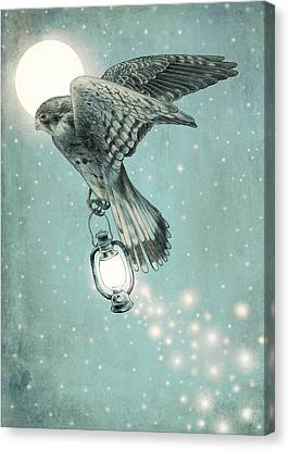 Moon Canvas Print - Nighthawk by Eric Fan