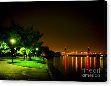 Nighttime Promenade Canvas Print by Olivier Le Queinec