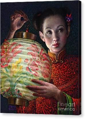 Nightingale Girl Canvas Print by Jane Bucci