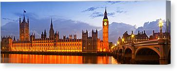 Nightly View - Houses Of Parliament Canvas Print