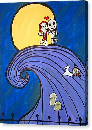 Nightmare Before Christmas Hill Cute Canvas Print