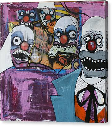 Nightmare Of The Clown Canvas Print by Sanne Rosenmay