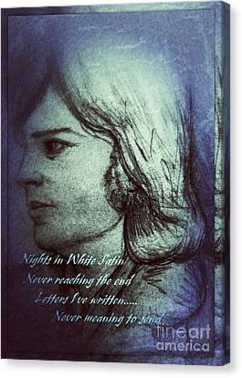 Nights In White Satin 2 Canvas Print